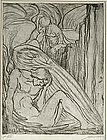 "Albert E. Sterner, Etching, ""Lost Angel"""