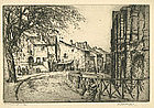 "Vaugham Trowbridge, Etching, ""Arles"""