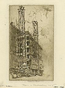 "Ernest Stephen Lumsden, ""Paris in Construction, No. 5"""