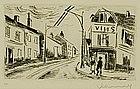 """Maurice de Vlaminck, Etching, """"L'Epicierie"""""""