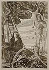 "Charles Shannon, lithograph, ""Autumn"""