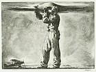 "William John Heaslip, etching, ""Propeller"""