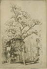 "Joseph Pennell, etching, ""Pineapple Street"""
