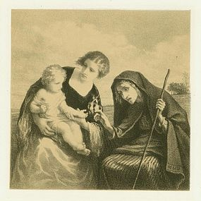 "William Morris Hunt, lithograph, ""Fortune Teller"""