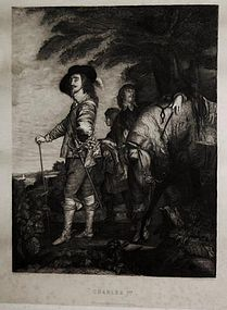 "Armand Mathey, engraving, ""Charles I"""