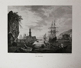 "Dequevauviller, engraving, ""Le Phare"""