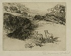 "Sir Francis Seymour Haden, etching, ""The Two Sheep"""