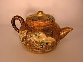 Small Satsuma Teapot by Fuzan