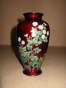Japanese Akasuke Cloisonne Vase