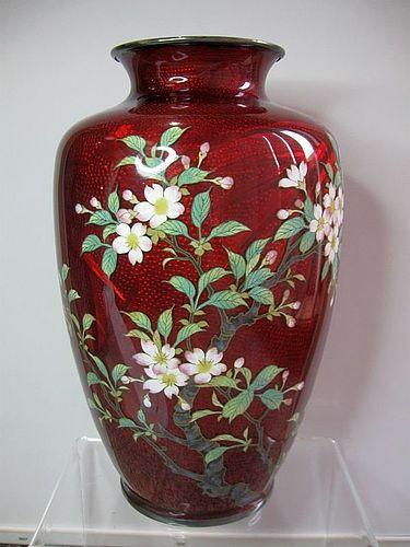 Japanese Akasuke Vase, Silver Jungin Mark