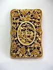Chinese Deeply Carved Large Ivory Card Case
