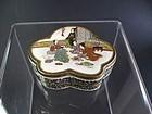 Japanese Miniature Lobed Satsuma Lidded Pot by Kaizan