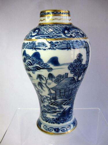 Chinese 18th Century Gilded Porcelain Vase