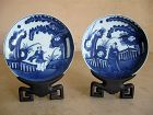 Chinese Pair of Kangxi Period Porcelain Low Bowls, Yue Marks