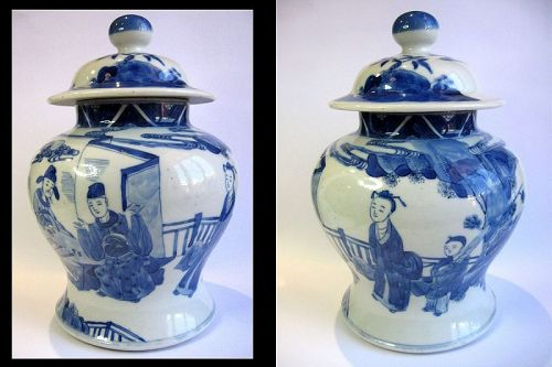 Kangxi Period Porcelain Lidded Jar