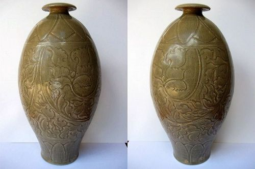 Chinese Longquan Yaozhou Vase, Northern Song Period