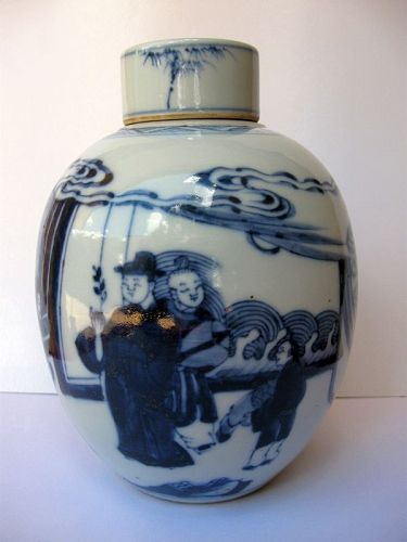 Chinese Kangxi Period Porcelain Lidded Vase
