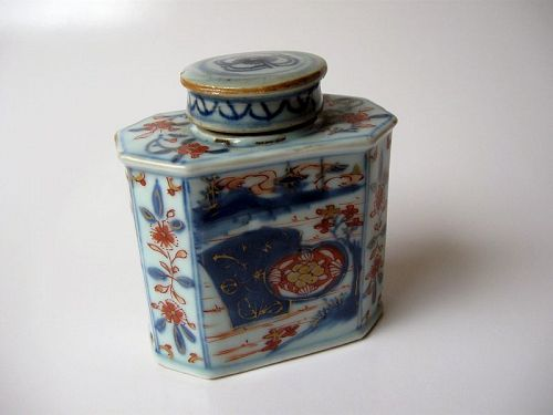 Chinese Kangxi Period Imari Tea Caddy