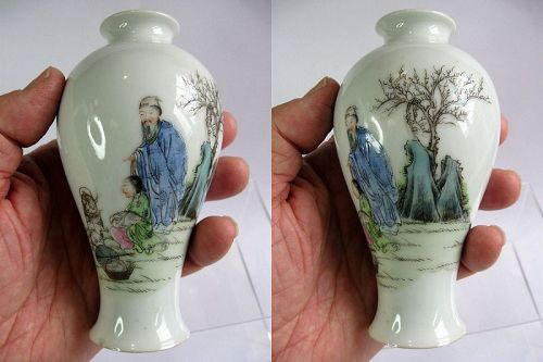 Chinese Porcelain Famille Rose Vase, Hongxian Mark and Period
