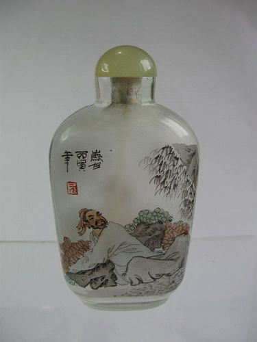 Chinese Inside Painted Snuff Bottle, Marks