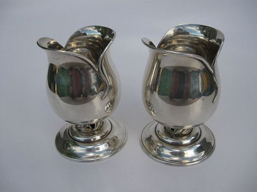Japanese Pair of Silver Tulip Goblets, Marks