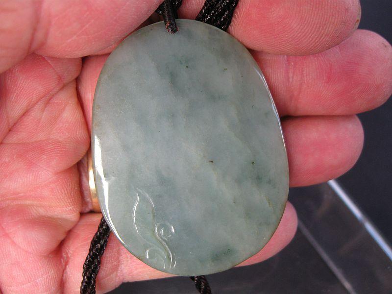 Chinese Green Jade Guan Yin Pendant