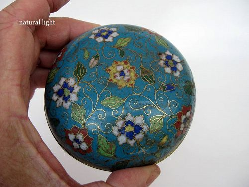 Chinese Bronze Cloisonne Lidded Box