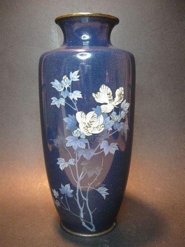Japanese Cloisonne Vase with Floral Sprig