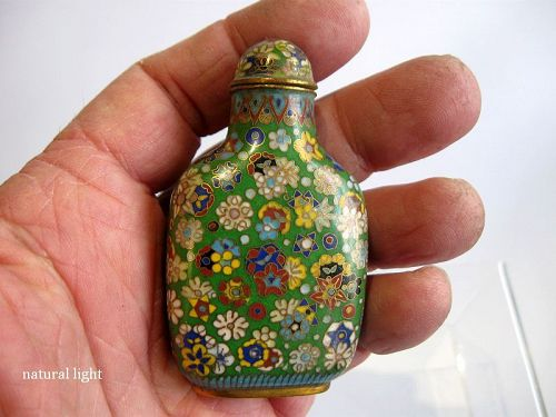 Chinese Cloisonné Millefleur Snuff Bottle