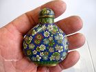 Chinese Cloisonné Millefleur Snuff Bottle, Marked