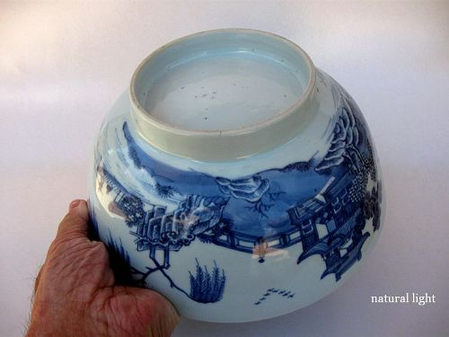 Chinese Porcelain Qianlong Period Blue and White Bowl