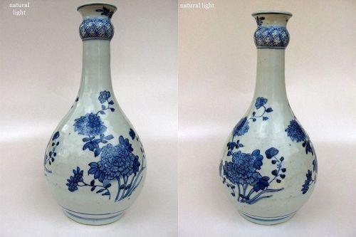 Chinese Porcelain Chongzheng Period Garlic Top Vase