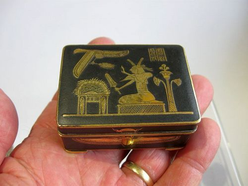Japanese Komai Box with Egyptian Themes, Fuji Mark