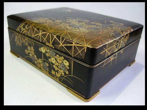Japanese Komai Style Iron Box, Signed