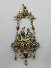 Renaissance Revival Gold & Gemstone Pendant, C. 1880