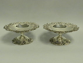 Pr. Antique American Sterling Silver Compotes  C. 1900
