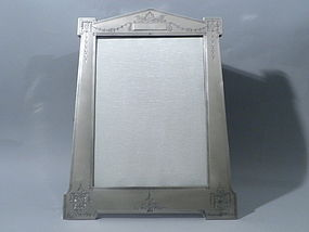 Large Sterling Silver Portrait Picture Frame Circa 1900