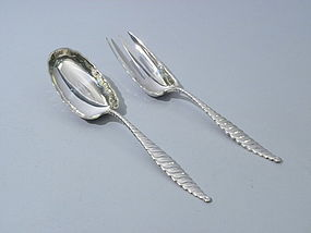 Whiting Oval Twist Sterling Silver Salad Set