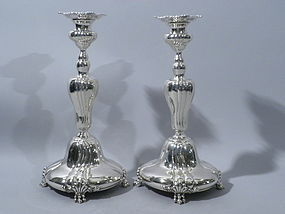 Pair  Bailey, Banks & Biddle Sterling Candlesticks 1890