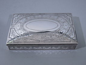 Tiffany Sterling Silver Cigar Box C 1915