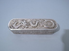 Antique Chinese Silver Box by Wang Hing Circa 1890