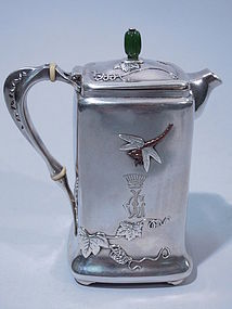 Tiffany Mixed Metals Bachelor Coffee Pot Museum Quality