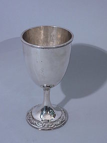 Chinese Silver Wine Goblet Circa 1900 Signed