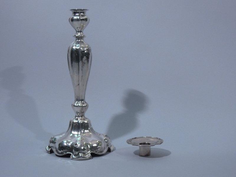 Pair Gorham Martele Sterling Silver Candlesticks