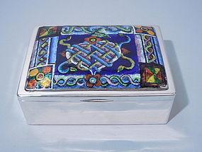 Wiener Werkstätte 900 Silver Enamel Box C 1915