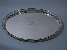 Victorian English London Sterling Tray 1883