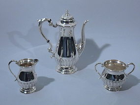 Manchester American Sterling Coffee Set C 1910