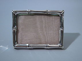 Tiffany American Sterling Silver Bamboo Photo Frame
