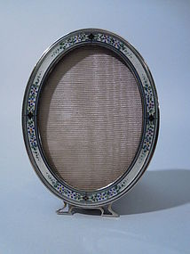Blackinton American Sterling Silver Enamel Frame