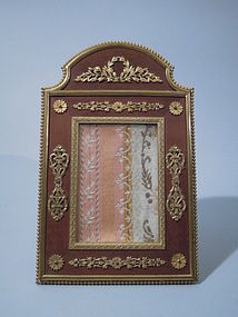 French Empire Photo Frame Wood Gilt-Bronze Mounts